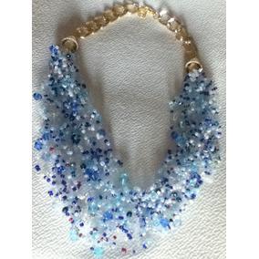 Collar Hilo Invisible Varios Hilos Cristales Elegante 10 May