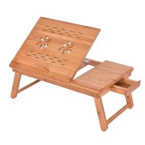 Bambú Portátil Ajustable Plegable Portátil Pc Mesa Cama