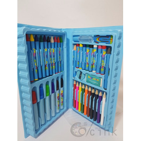Estojo De Pintura Maleta Para Colorir 48 Peças Modelo 2019