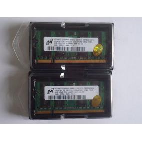 2 Pçs Memorias Micron 2gb Cada Micron 6400s - 666 Ddr2 800