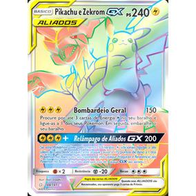 Pikachu E Zekrom-gx (184/181) União De Aliados Sm9