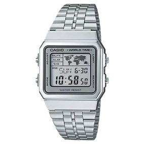 d440c46b131 Casio Mapa Mundi Prata - Relógios De Pulso no Mercado Livre Brasil
