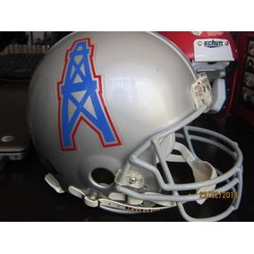 Casco Nfl Houston Oilers - Nfl Riddell Casco Tamaño Real 39f26b0c788