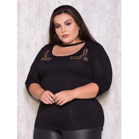 Blusa Com Gola De Laco Bordado Tamanho M - Blusas para Feminino em ... 53e55baa706