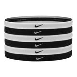 Faixa Para Cabeça Nike Preta & Branca - Pct 6