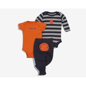 Conjunto Con Pañalero Baby Colors Anaranjado Pr-5650382
