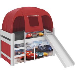 Cama Infantil Carros Disney Escorrega Barraca Vermelha Pura