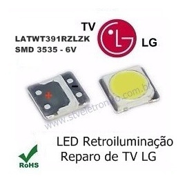 Kit 10 Led P/ Barra Tv Lg 42lb6500 42lb5800 42lb6200