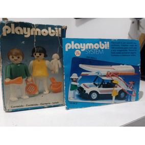 Playmobil Trol, 2 Crianças Na Praia, Caixa, Anos 80 Completo