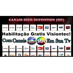 Habilitação Claro Tv Visiontec Grátis, Com Globo & Sbt
