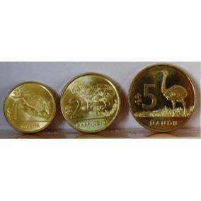 Set Moeda Pesos Uruguay 1 Mulita, 2 Carpincho, 5 Nandu Fc