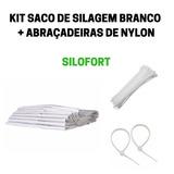 Sacos De Silagem Br 51x100 200 Micras 100un C/abraçadeiras