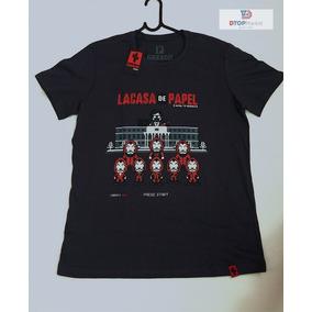 Camiseta - La Casa De Papel 8 Bits