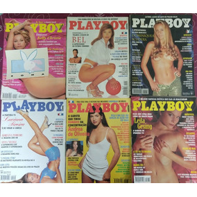 Revista Playboy - Lote 7 Edições - Anos 90- Todas Com Poster