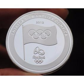 10 Moedas Entrega Da Bandeira Olímpica(réplica)