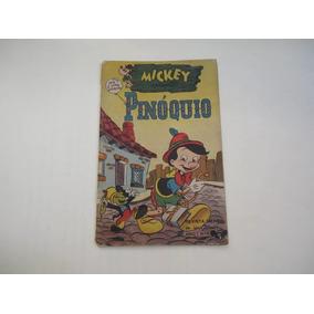 Mickey Nº 4 Abril 1953 Todo Original Apresenta Pinóquio