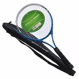 Raquete De Tênis Alumínio + Capa Adulto Federer Djokovic