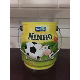 Lata Promocional Balde Ninho Nestle Vaca