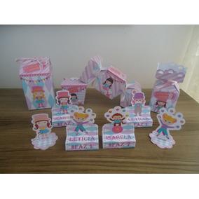 100 Mini Caixinhas 3d Personalizado Milk Piramide Bala Sushi