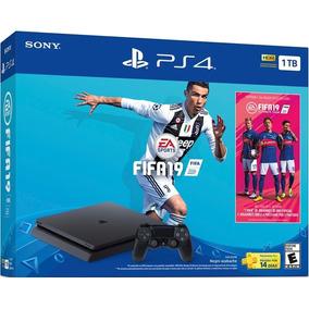 Play 4 Slim 1 Tera + Fifa 19 Nuevos Con Garantia