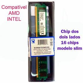 Memória Kingston Pc Ddr2 667mhz 2gb Chip 2 Lados Dual