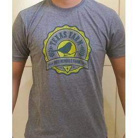 Camiseta Bulsa Manga Curta Mais Vendida Texas Farm Agora