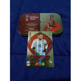 Lata De Colecionador + Card Lionel Messi Limited Edition