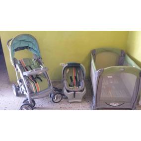 Coche Corral Y Porta Bebé Graco Usados En Buen Estado