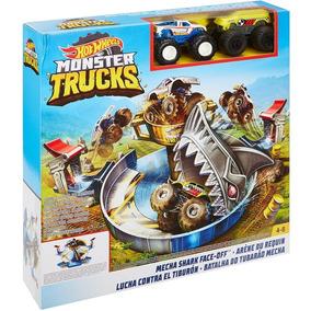 Batalha Do Tubarão Mecha Hot Wheels Mattel