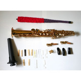 Saxofon Soprano Hawk Con Estuche, Stand, Cañas Y Boquillas