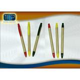 Bolígrafos /esferos Ecológicos Normal Y Touch, Desde $0,31
