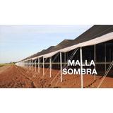 Malla Al 80 % Sombra D Monofilamento 3.70 X 10 M De Largo