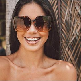 677aedcfd2407 Oculos De Sol Quadrado Feminino De Oncinha - Óculos no Mercado Livre ...