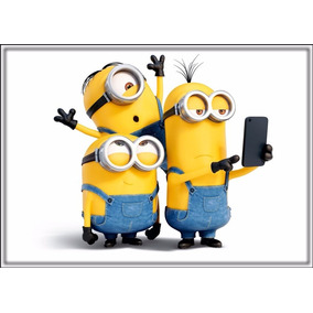 Poster Minions Foto 60cmx84cm Cartaz Hd Papel Decorar Parede