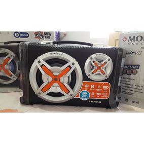 Caixa Amplificada Mondial Mco-07 Bluetooth 80w Usb Rádio Fm