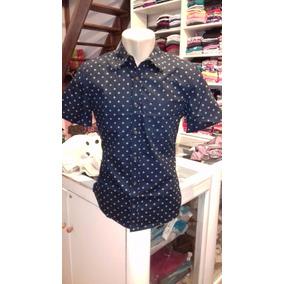 a1b62de5b3 Camisa Jeans Masculina Manga Curta - Camisa Masculino no Mercado ...