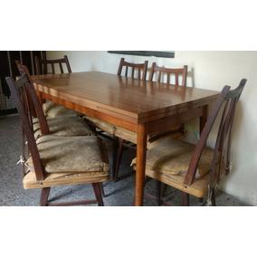 Mesa Y Sillas Antiguas Americana - Mueble Comedor - Rgbiz