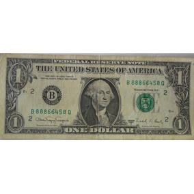 Cédula De 1 Dólar De 1988 Série A (raridade)