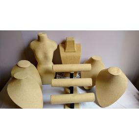 Kit Exhibidor De Joyeria Anillo Collar Pulcera Busto 7 Pzs