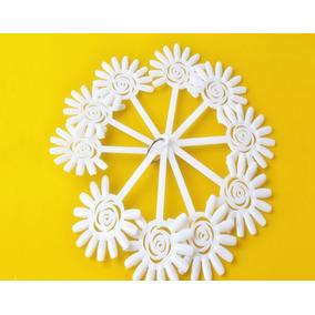 Leque Display Com 10 Flores Unhas Natural