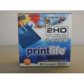 Caixa Diskete Com 10unid. 1.44 Mb Printlife 1.44mb 10pcs