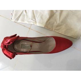 60ed8af88 Sapato Cetim Vermelho Tam 35 Durval Calçados Finos - Sapatos no ...