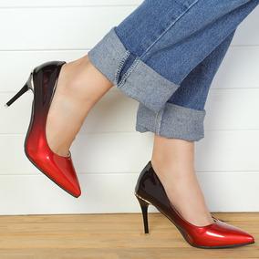 13576ef7 Zapatillas Mujer Sencilla Cuero Pu De Tacón 8.5cm De Moda