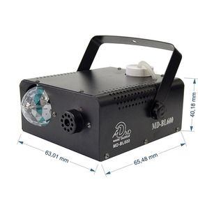 Maquina De Fumaça 600w Com Efeito Bola Maluca Lampada Led