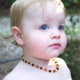 Collar De Ámbar Certificado Para Bebes Marca Regina
