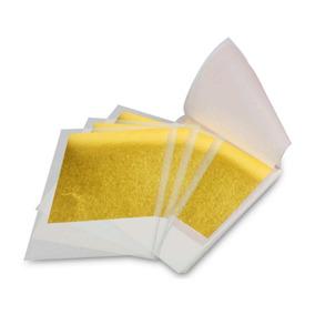 Folha Ouro Comestível Kit C\ 10 Folhas - Pronta Entrega