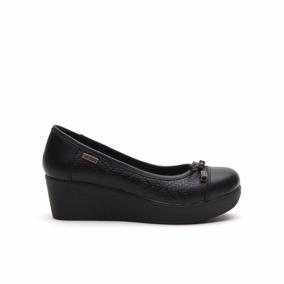 Chatita Mujer Lady Stork Maite Zapato Plataforma Cuero