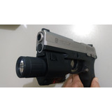 Mira Laser + Lanterna Pistola Taurus, Glock, Imbel, Airsoft