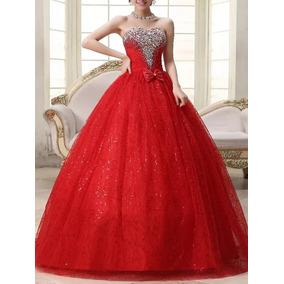 02c3d14ae4 Vestidos De Xv Años Color Rojo Baratos - Ropa