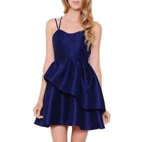 Vestido Azul Marino Corto Para Fiesta Talla M